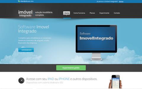Screenshot of Home Page imovelintegrado.com.br - Software para imobiliárias | Softwares para imobiliárias | Softwares para corretores - Imovel Integrado, Sistema de gerenciamento imobiliario com site integrado - captured Jan. 29, 2017