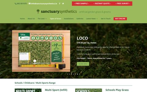 Screenshot of Products Page sanctuarysynthetics.ie - types of artifical grass | products - captured May 27, 2017
