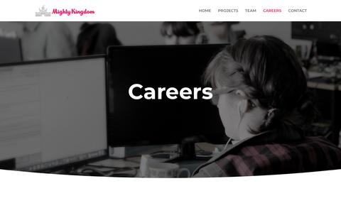Screenshot of Jobs Page mightykingdom.com - Careers | Mighty Kingdom - captured Sept. 21, 2018