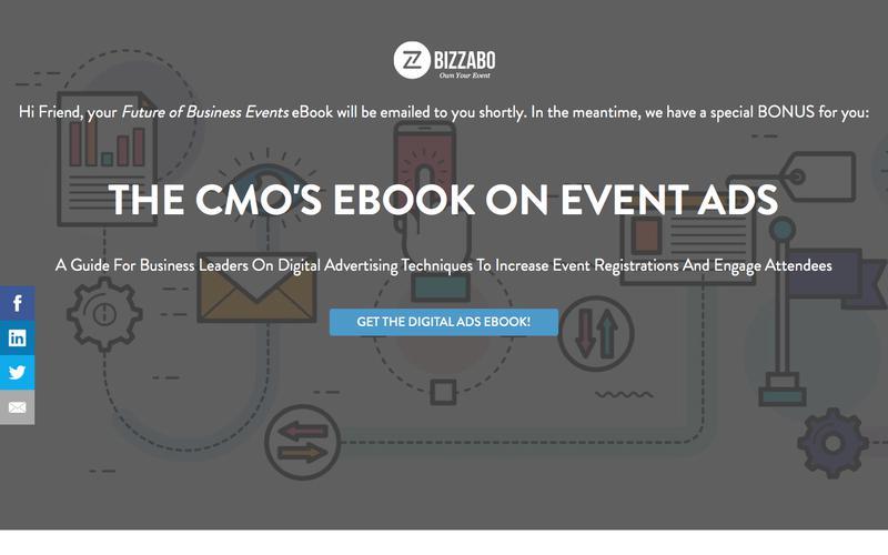 2017 Event Trends Bonus! Get The CMOs eBook On Event Advertising | Bizzabo