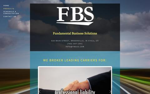 Screenshot of Products Page fbsus.com - Products — FBS - captured April 8, 2016