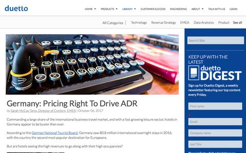 Screenshot of Pricing Page duettocloud.com - Germany: Pricing Right To Drive ADR - captured Jan. 6, 2020