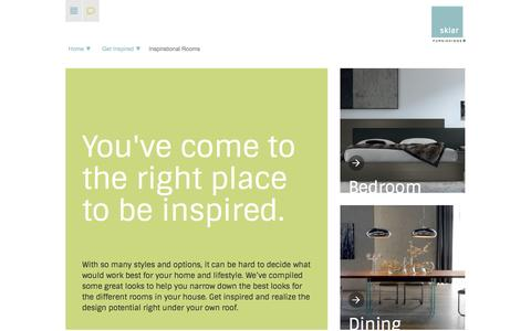 Screenshot of Products Page sklarfurnishings.com - Inspirational Rooms    Sklar Furnishings - captured Sept. 30, 2014