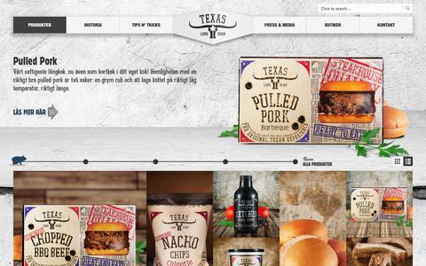 Screenshot of Products Page texaslonghorn.se - Visste du att Texas Longhorn produkter finns att köpa i handeln? - captured Nov. 4, 2014