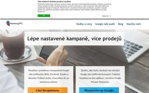 Screenshot of Home Page marketingppc.cz - Reklama Google Ads a PPC marketing | Marketing PPC - captured Sept. 23, 2018