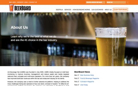 Screenshot of About Page beerboard.com - About Us - Learn About Our Team - captured May 1, 2017