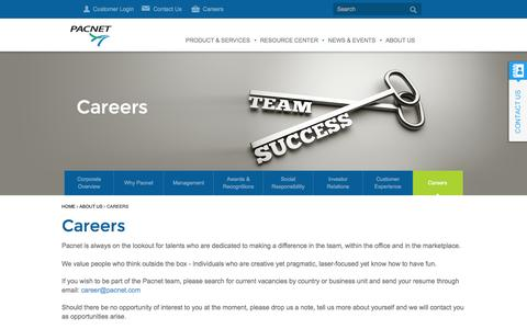 Screenshot of Jobs Page pacnet.com - Careers - Pacnet - captured Oct. 28, 2014