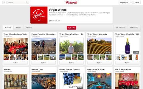 Screenshot of Pinterest Page pinterest.com - Virgin Wines on Pinterest - captured Oct. 26, 2014