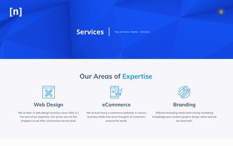 Screenshot of Services Page nilecreations.com - Services - Web Design Egypt | Nile Creations Digital Marketing Agency - captured Sept. 20, 2018