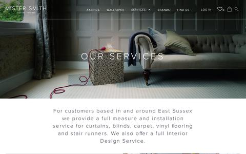 Screenshot of Services Page mistersmith.co.uk - Our Services – Mister Smith Interiors - captured Nov. 6, 2017