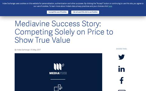 Screenshot of Case Studies Page indexexchange.com - Mediavine Success Story: Competing Solely on Price to Show True Value - Index Exchange UK - captured Nov. 16, 2018