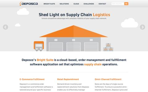 Screenshot of Services Page deposco.com - Deposco | Cloud-Based Supply Chain Applications - captured Sept. 13, 2014