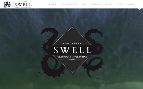 Screenshot of Home Page agence-swell.fr - Agence Swell - Communication, Conseil et Evénementiel / Paris-Bretagne - captured Sept. 13, 2015