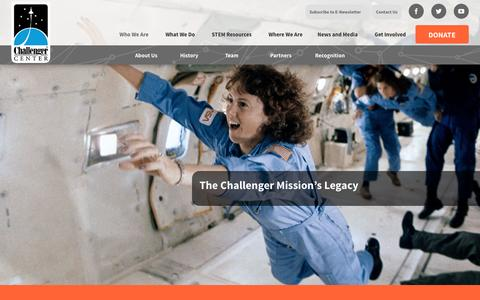 Screenshot of About Page Team Page challenger.org - Challenger Center -   Who We Are - captured Jan. 27, 2016