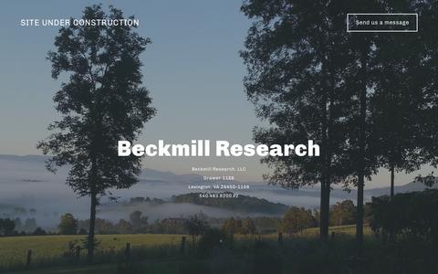 Screenshot of Home Page beckmill.com - Team Compass - captured Feb. 7, 2016