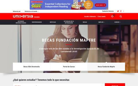 Screenshot of Home Page universia.net.co - Universia Colombia. Portal de las Universidades colombianas - captured Nov. 12, 2018