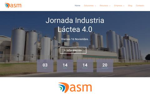 Screenshot of Home Page asm.es - ASM, Software Industrial, ERP Dynamics NAV , MES TrakSYS, LIMS - captured Nov. 12, 2018