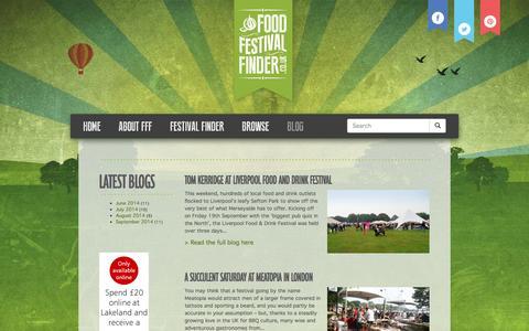 Screenshot of Blog foodfestivalfinder.co.uk - Blog   Food Festival Finder - captured Sept. 30, 2014