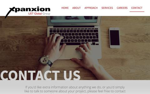 Screenshot of Contact Page xpanxion.com - Contact Xpanxion - captured Nov. 23, 2015