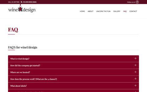 Screenshot of FAQ Page wineudesign.com - FAQ | Wine U Design - captured June 13, 2017