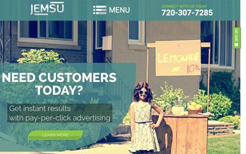 Screenshot of Home Page jemsu.com - Denver SEO & Digital Marketing | Web Design & PPC | JEMSU - captured Feb. 2, 2016
