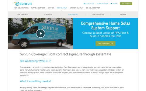 Screenshot of sunrun.com - Solar Warranty   Solar Lifetime Support   Sunrun - captured June 24, 2017