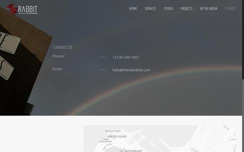 Screenshot of Contact Page therealrabbit.com - Contact – Rabbit Disruptive Innovations - captured Nov. 28, 2016
