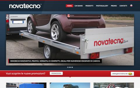 Screenshot of Home Page Maps & Directions Page novatecno.it - Rimorchi per auto, rimorchi per moto e cavalli. Produzione e vendita. | Gepacar srl - captured Jan. 19, 2016