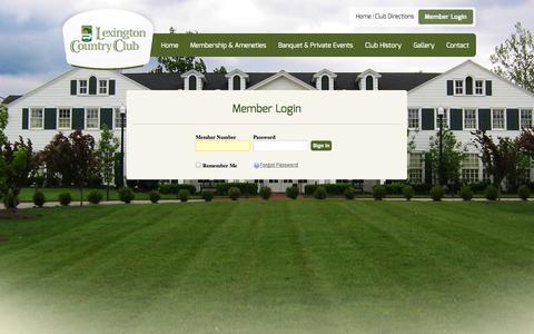 Screenshot of Login Page lexingtoncc.com - login - Lexington Country Club - captured Oct. 2, 2014