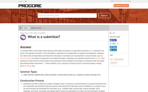 What is a submittal? - Procore