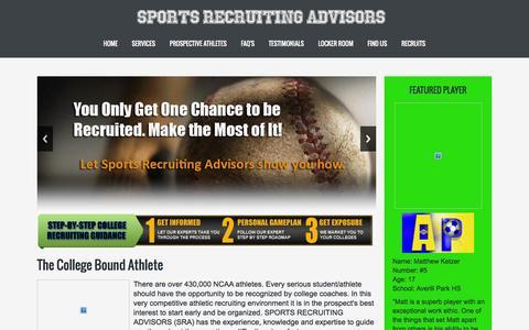 Screenshot of FAQ Page sportsrecruitingadvisors.com - Sports Recruiting Advisors :: Home - captured Aug. 14, 2015