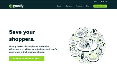 Screenshot of Home Page granify.com - Granify | Automatic Revenue Optimization Platform for Ecommerce - captured Aug. 15, 2017