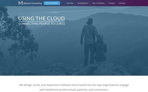 Screenshot of Home Page mavensconsulting.com - Home   Mavens Consulting - captured Feb. 12, 2016