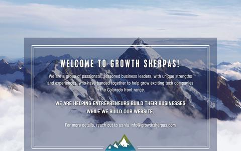 Screenshot of Home Page growthsherpas.com - Growth Sherpas Landing Page - captured July 25, 2018