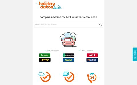Compare Car Rental. Save up to 40%. Holiday Autos