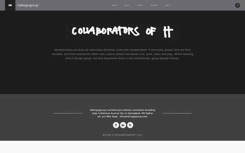 Screenshot of Team Page hdesigngroup.com - Team | h design group - captured Dec. 5, 2015
