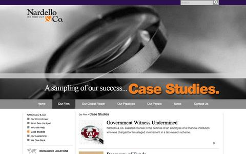 Screenshot of Case Studies Page nardelloandco.com - Case Studies - Nardello & Co. - Nardello & Co. - captured Oct. 27, 2014