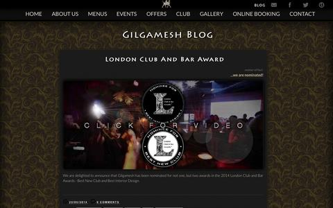 Screenshot of Blog gilgameshbar.com - Gilgamesh - Blog - captured Sept. 23, 2014