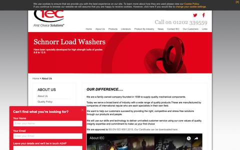 Screenshot of About Page iecltd.co.uk - About iec - Mechanical Component Suppliers - captured Oct. 1, 2018