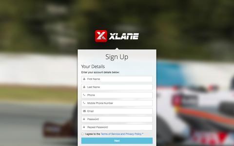 Screenshot of Signup Page xlane.com - XLane Passport :: Sign Up - captured Nov. 1, 2014
