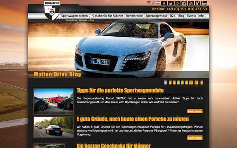 Screenshot of Blog motion-drive-vermietung.de - Blog - Motion Drive® - captured Sept. 3, 2017