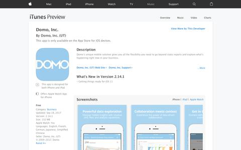 Domo, Inc. on the App Store