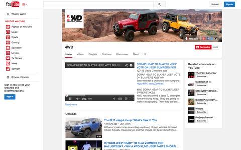 Screenshot of YouTube Page youtube.com - 4WD  - YouTube - captured Nov. 4, 2014