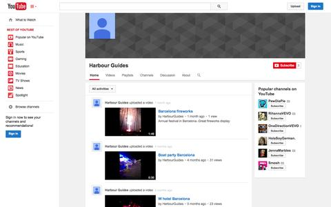 Screenshot of YouTube Page youtube.com - Harbour Guides  - YouTube - captured Oct. 30, 2014