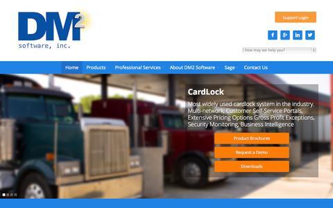 Screenshot of Home Page dm2.com - Petroleum Accounting Software - captured Oct. 5, 2014