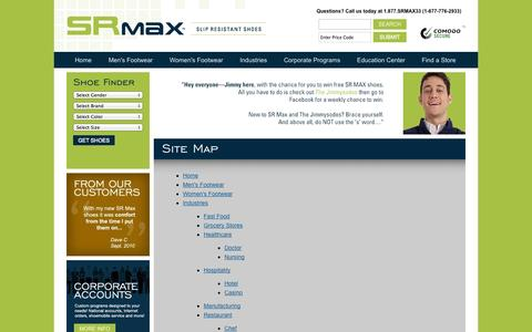 Screenshot of Site Map Page srmax.com - Site Map - captured Oct. 3, 2014