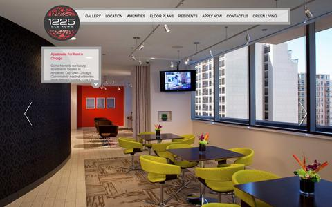 Screenshot of Home Page 1225oldtown.com - Apartments for Rent in Chicago | 1225 Old Town KWR - captured Jan. 10, 2016