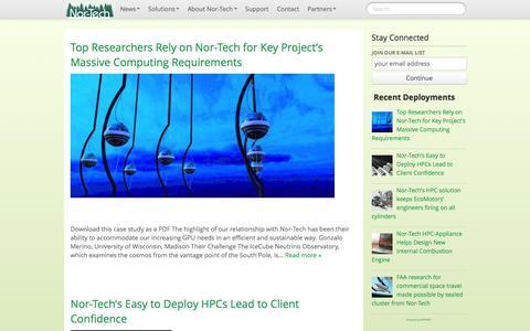 Screenshot of Case Studies Page nor-tech.com - case studies   Nor-Tech - Innovative HPC Solutions - captured Dec. 7, 2015