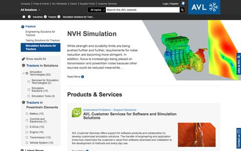 Simulation Solutions for Tractors - avl.com
