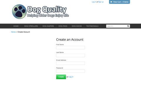 Screenshot of Signup Page dogquality.com - Create Account   Dog Quality - captured Nov. 3, 2014